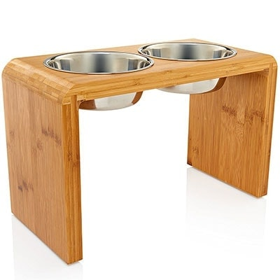 12-inch elevated dog feeder bowl is tall enough to keep crawlers away