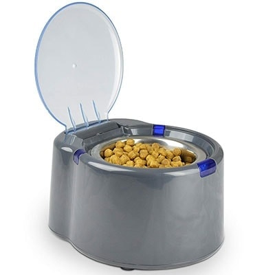 Our Pets Smart Link Intelligent Dog Bowl With Automatic Lid to stop baby from getting to dog food