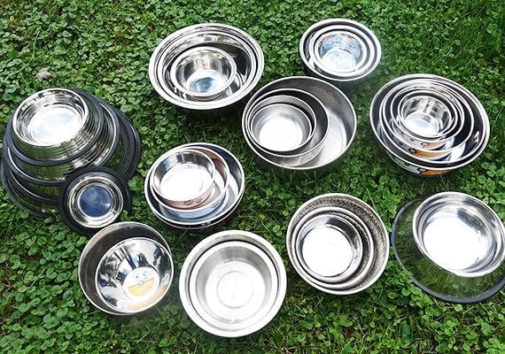 Testing and reviewing different stainless steel dog bowls to find the best