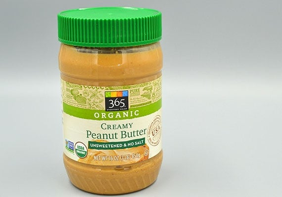 365 Everyday value organic peanut butter jar winner of best smooth peanut butter for dogs
