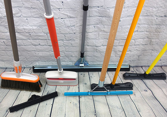 7 different dog hair brooms that we tested and reviewed to find the best