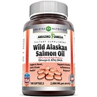 Amazing Omega Wild Alaskan Salmon Oil Capsules Dietary Supplement for dogs 1000 mg