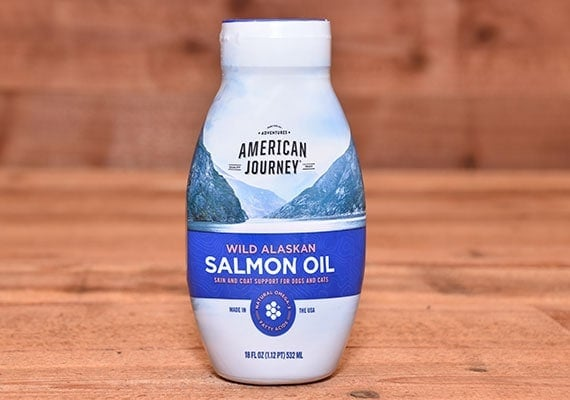 American Journey Wild Alaskan Salmon Oil For Dogs Front Of Bottle