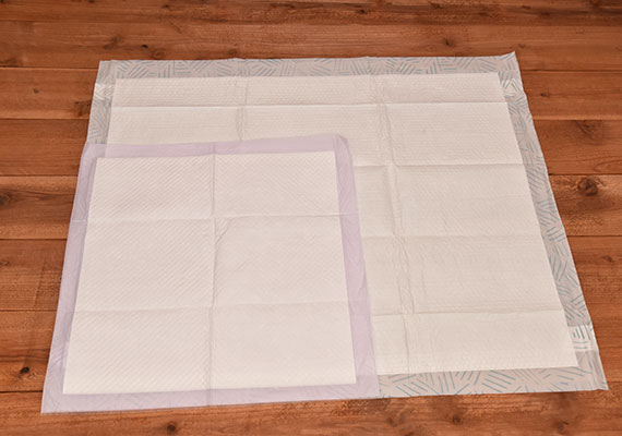 Bark XXL Essential Training pads compared to a regular 22 x 22 pee pad - Winner of best giant pee pad for dogs