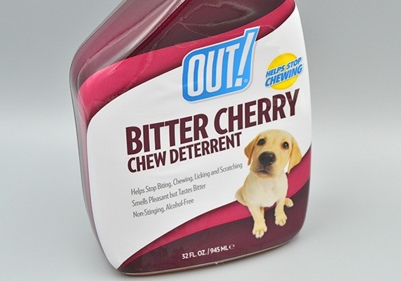 Bitter Cherry Chew Deterrent packaging label on bottle