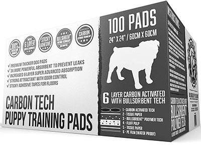 Bulldogology Carbon Tech Puppy Training Pads Winner of best premium pee pads for dogs