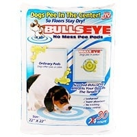 Bullseye No Mess Pee Pads As seen on TV - Runner Up Best Pee Pad For Dogs