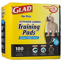 Glad Activated Carbon Training Pads - Runner Up Best Pee Pad For Dogs