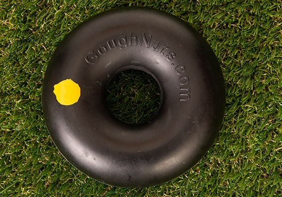 Goughnuts Indestructible Chew Ring on grass