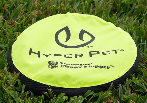 Hyper Pet Flippy Flopper Dog Frisbee on grass in park