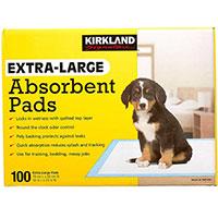 KirkLand Signature Extra Large Absorbent Pads Best Pee Pads For Medium Dogs winner