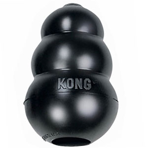 Kong Extreme Black Rubber - Winner of best treat toy for chewers