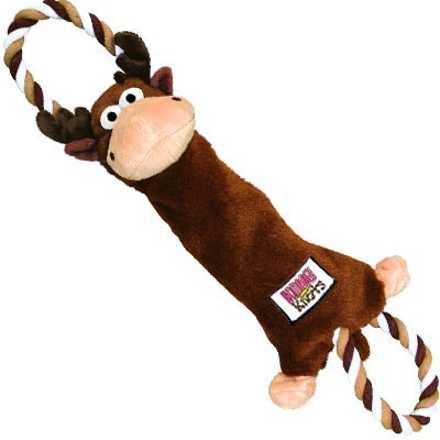 Kong Tugger Knots Moose plush rope dog toy for tug-of-war