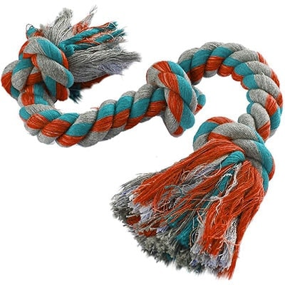 Mammoth flossy chews cottonblend 3 knot - best rope dog toy