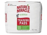Nature's Miracle Training Pads With Fast-Absorption Technology - Runner Up Best Pee Pad