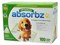 Optimum Absorbz Every Day Convenience Pads - Runner Up Best Pee Pads For Dogs