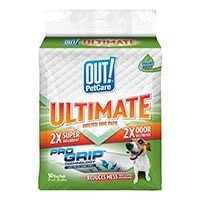 Out! Ultimate Quilted Dog Pads With Pro-Grip - Runner Up Best Pee Pad For Dogs