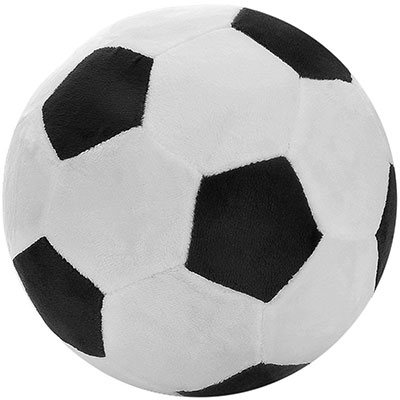Plush fluffy soccer ball perfect for dog play