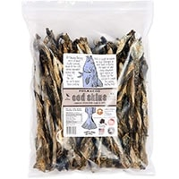 Polkadog Alaskan cod skins bulk 2lbs pack of USA sourced and manfactured fish skin chews