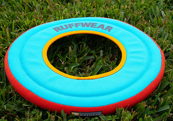 Ruffwear Hydro Plane dog frisbee on grass in park