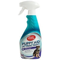 Simple Solution puppy aid attractant potty training spray bottle