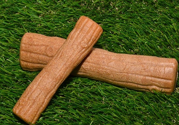 Small and medium sized ruffwood wooden chew toy