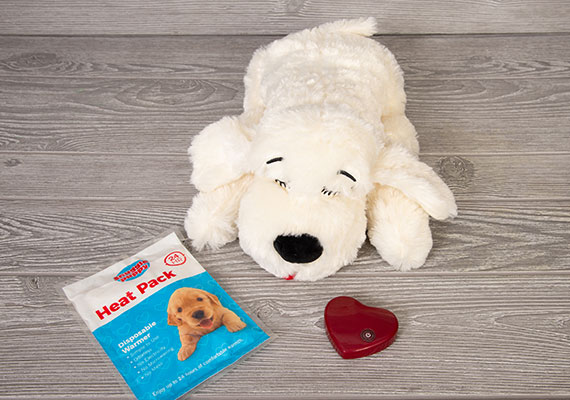 Smart Pet Love snuggle Puppy Heart Beat and heat pack included in box
