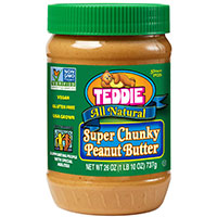Teddie All Natural Super Chunky Peanut Butter - Best crunchy peanut butter for dogs