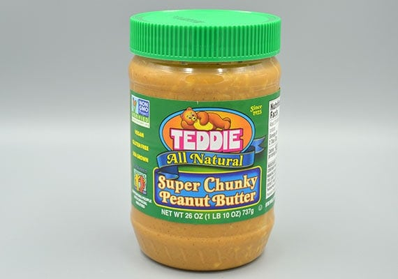 Teddie super chunky peanut butter winner of the best natural crunchy peanut butter for dogs