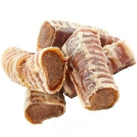 USA Bones Beef Trachea Dog Treats with bully stick and beef filling
