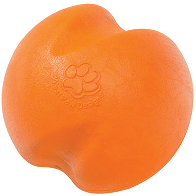 West Paw Jive rubber dog ball made in USA